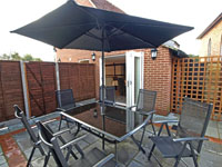 Enclosed Patio and BBQ area